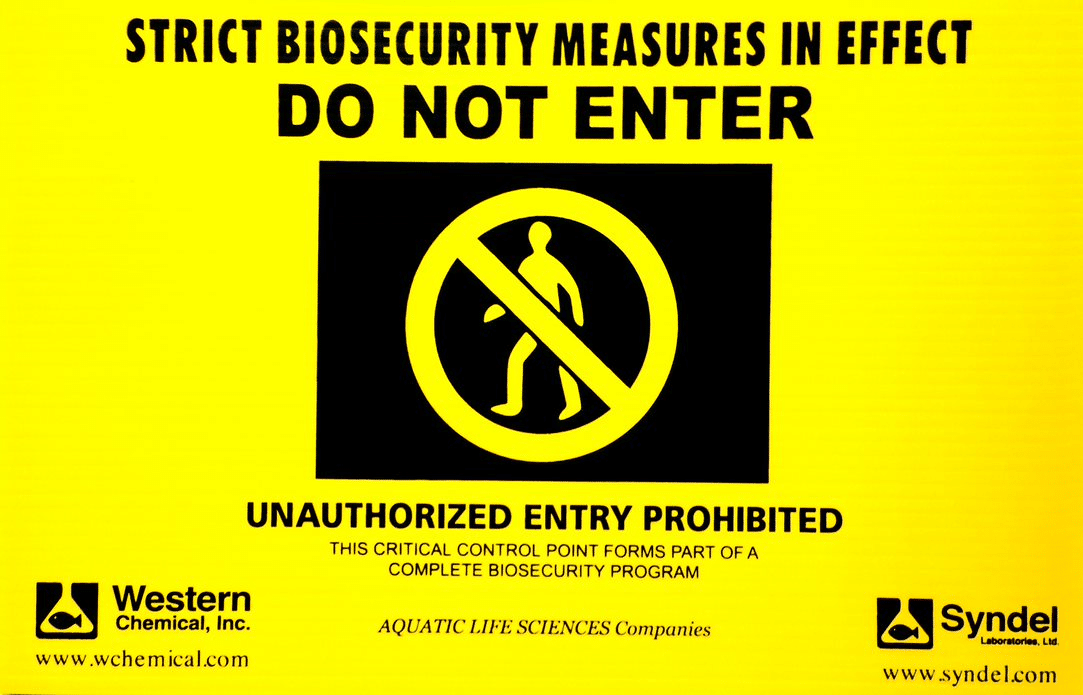 Biosecurity Signage For Indoor Or Outdoor Use 11 X 17 Inches Syndel